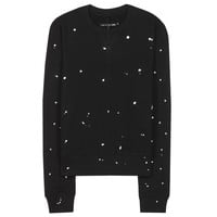 rag & bone - splatter paint cotton sweatshirt