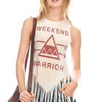 Weekend Warrior Fringe Graphic Tank | Tanks & Camis | Grayson Shop
