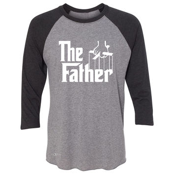 Zexpa Apparel™ The Father Godfather 3/4 Sleevee Raglan Tee Couple Matching Mother's Day Tee
