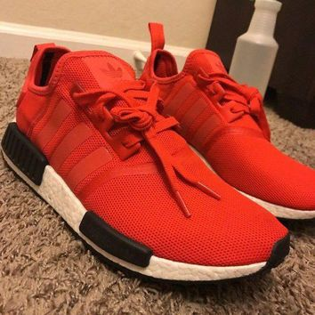 PEAP2 Adidas Mens NMD R1 Nomad bb2885 RED black white core runner Boost ultra Limited