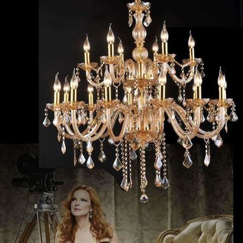 European Candle Crystal Chandeliers Ceiling Bedroom modern Crystal Chandelier luxury european modern chandelier gold lighting
