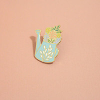 Watering Can Pin, Hard Enamel, Enamel Pin, Lapel Pin, Pin Badge, Flair, Brooch, Badge, Collar Pin