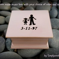 music box, wooden music box, father of the bride music box, custom made music box, dad, gift for dad, gift for daughter, valentines day