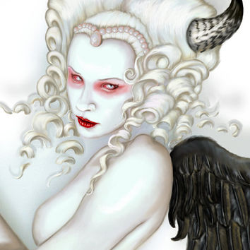 Succubus Fallen Angel archival art print