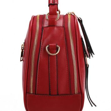 Retro Women Synthetic Leather Shoulder Strap Casual Small Bag Messenger Tote