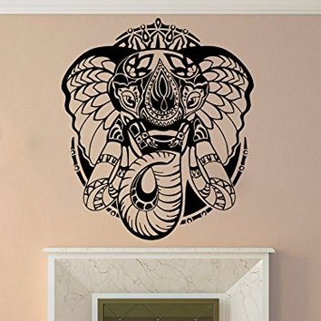 Ganesh Ganesha Elephant Lord of Success Hindu Hand God Buddha India Housewares Wall Vinyl Decal Design Interior Bedroom Decor Sticker NS566