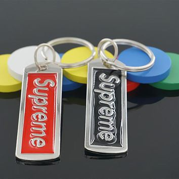 Supreme Steel Metal Keychain Key Chain