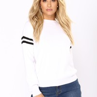 Lost In Nostalgia Sweater - White