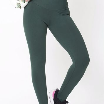 Green High Up Legging