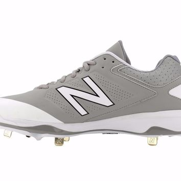 new balance 4040v3 metal cleats low cut gray white