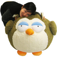 Massive Owl Bean Bag: An Adorable Fuzzy Plush to Snurfle and Squeeze!