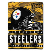 Pittsburgh Steelers NFL Silk Touch Throw (Stacked Series) (60inx80in)