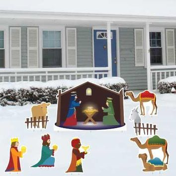 Nativity Scene 8 Piece Yard Card Set