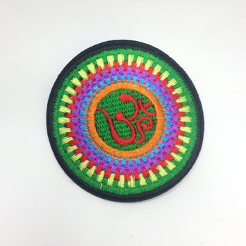 Rainbow Yoga Iron On Patch