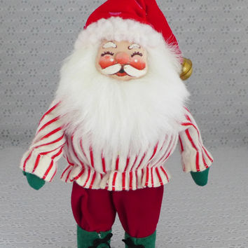 Santa Claus Figure, Soft Santa Claus, Santa Ornament, Santa Claus Doll, Santa Soft Sculpture, Christmas Decor, Holiday Decoration