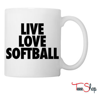 Live Love Softball Coffee & Tea Mug