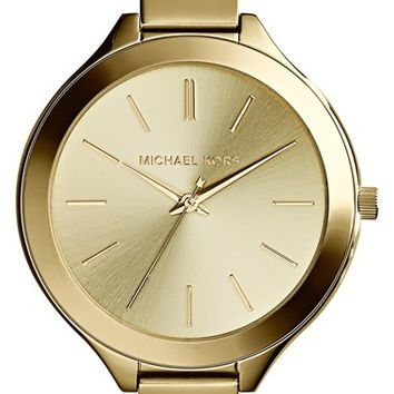 Women's Michael Kors 'Slim Runway' Round Half Bangle Watch, 43mm