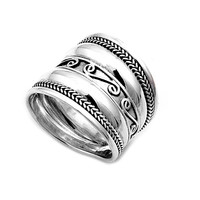 925 Sterling Silver Bali 18MM Ring