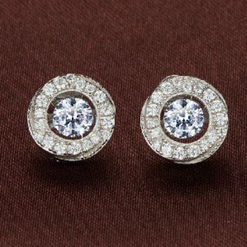 Sparkling 2 piece Center Stone Swarovski Crystal Earrings