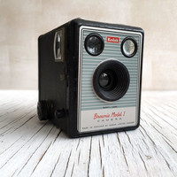 Vintage Kodak box camera. Brownie Model 1 made in England by Kodak London. For the collector, for display.