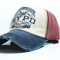 NYPD NY JEANS FITTED HAT