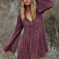 Free People Womens Windswept Printed Mini