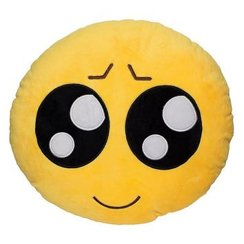 32cm x 10cm Emoji Decorative Throw Pillow Stuffed Smile Cushion Home Couch Chair Toy Emotional Facial Expression Doll Pillow
