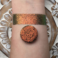 Iridescent Copper mine pressed glitter eyeshadow, 26mm magnetic pan or jar