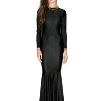 Mermaid Cutout Maxi Dress BLACK
