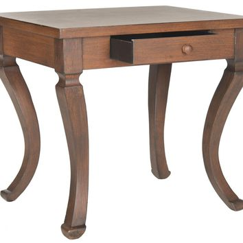 Colman Storage Side Table Brown