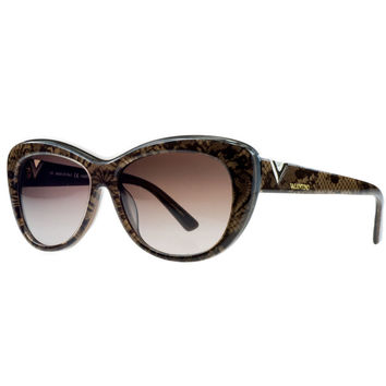 Valentino Chocolate Pearl Cateye Sunglasses