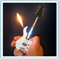 1x Mini White Guitar LED Light Refillable Cigar Cigarette Lighter 7inch:Amazon:Kitchen & Dining