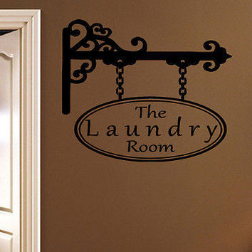 The Laundry Room quote wall sticker quote decal wall art decor 6146