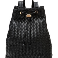 Deux Lux Women's Woven Varick Backpack - Black