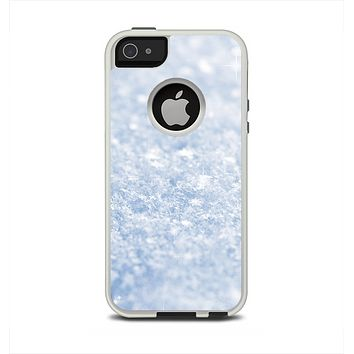 The Sparkly Snow Texture Apple iPhone 5-5s Otterbox Commuter Case Skin Set