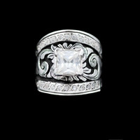 Sterling & Crystal Statement Solitaire Ring - Hyo Silver