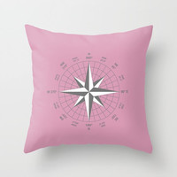 Decorative Throw Pillow - 3 different sizes to Choose From, With, Without, Inserts, Indoors, Outdoors, Square or Rectangular, Compass, Navy