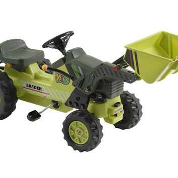 Kalee Pedal Tractor with Loader Green