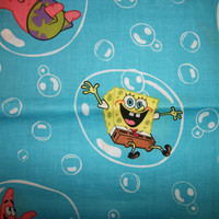 Sponge Bob Patrick Quilt  Fabric Sewing Supplies