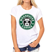 Moonbucks Coffee Sailor Moon Inspired Funny Kawaii Harajuku T-Shirt