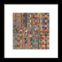 Multicolored Fractured Reality Framed Print By Ben And Raisa Gertsberg