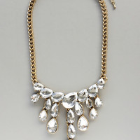Crystal Waterfalls Statement Necklace