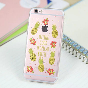 Cute Pineapple Cover Case for iPhone 5s 5se 6 6s Plus Gift 318