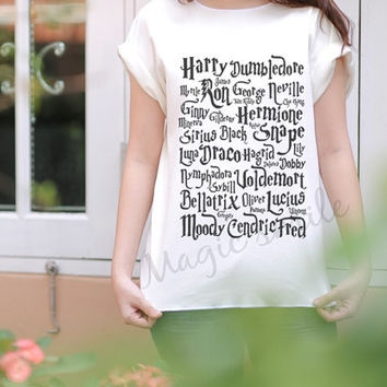 Character Harry Potter style - Premium cotton Crop tank, Tank Top, T-shirt, Long sleeve, unisex shirt, women tank, girl tank