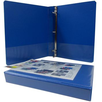 "1"" Blue Triple-View Binder - CASE OF 18"