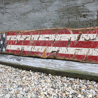Rustic Distressed American Flag USA Star Liberty Wood Sign 4 ft 4th of July