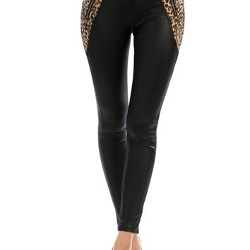 Leopard Pocket Zippered Leggings