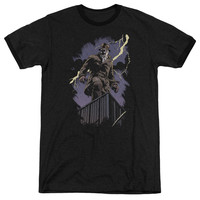 Watchmen Rorschach Night Black Ringer T-Shirt