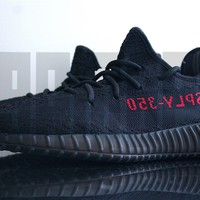 Adidas YEEZY BOOST 350 V2 6 7 8 9 10 11 12 13 BRED BLACK RED boost nmd kanye ds