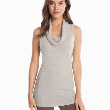 White House Black Market Cowl Neck Sleeveless Tunic